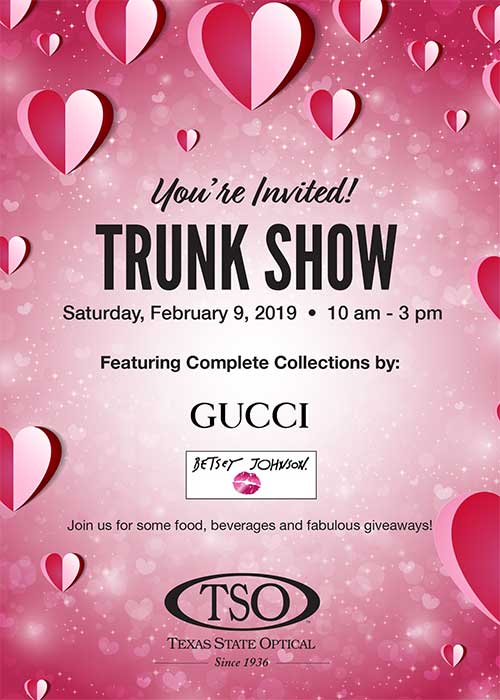 valetines trunk show feb 9